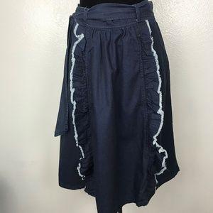 Anthropologie Maeve Blue Denim Skirt Women's Sz 8